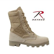 """ROTHCO 8"""" G.I. Type Nylon/Suede Leather Panama Sole Boots Desert Tan Style 5057"""