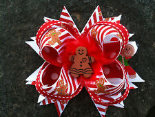 CHRISTMAS GINGERBREAD RESIN BOUTIQUE HAIRBOW