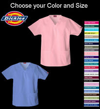 Dickies Scrubs V-neck Medical Uniform New Top - 810506  colors and sizes