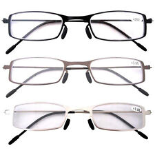 12005 Pack of 3 Pairs Stainless Steel Frame Reading Glasses For Men and Women