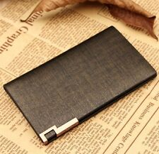Luxury Men Women 100% Leather Name card  Credit Card Cases Card Bag Wallet
