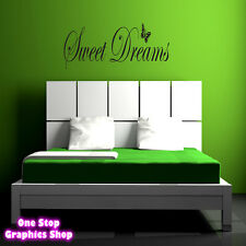 SWEET DREAMS WALL ART QUOTE STICKER 60CM - KITCHEN LOUNGE BEDROOM LOVE DECAL
