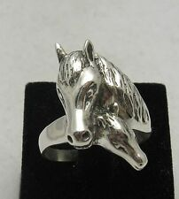 STERLING SILVER RING HORSE SOLID 925 NEW SIZE 4 - 13