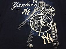 New York Yankees NY Logo Statement T Shirt MLB Majestic NEW NWT