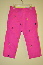 J CREW CREWCUTS Cotton Cafe Critter Capri/Cropped - White or Pink - Size 5 - NWT