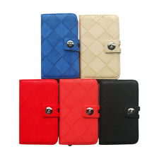 1/5 Flip Wallet PU Leather Back Cover Case For Samsung Galaxy Note 2 II N7100