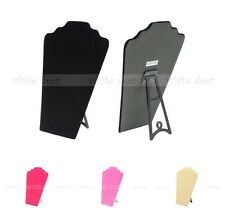 "9"" Necklace Bust Jewelry Chain Pendant Display Holder Stand Neck Velvet Easel"