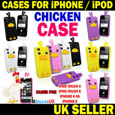 Chicken Case Cute Silicone Funny Case iPhone 5 4s 4 iPod Touch 5 4 Gen New Gift