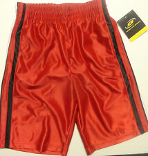 Simply For Sports Boys Basketball Red with White Stripe Shorts Sizes 5, 6,7X