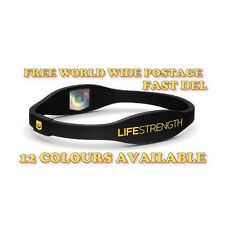 LIFESTRENGTH WRISTBAND HEALTH POWER BALANCE BAND IONIC IONIZED SPORT GIFT IDEAS