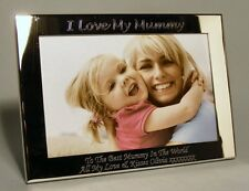 Personalised Engraved 6x4 Silver Plated Photo Frame Mum, Mummy, Mothers Day Gift