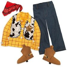 NWT NEW DISNEY STORE TOY STORY WOODY COSTUME SHIRT PANTS BOOT COVERS SCARF