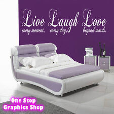 LIVE LAUGH LOVE WALL ART QUOTE STICKER 90CM -  BEDROOM LOUNGE LOVE DECAL
