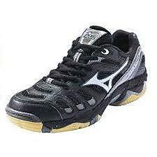 MIZUNO WAVE RALLY 2 Black White 9KV-18705 Volleyball Indoor Court Women