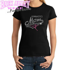 RHINESTONE Gymnastics MOM LADIES SHIRT S-2XL TRENDY Gymnast SCHOOL SPIRIT