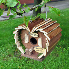 Bird nest nesting box house home hotel wooden deals for up to 3 FREE P+P