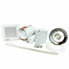 SALE:... Shower Extractor Fan with SELV Light Kit Chrome Grill - Std or Timer 4""