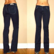 $178 Seven 7 For All Mankind Skinny Bootcut Gummy Jeans Dark Rich Sateen 25-27