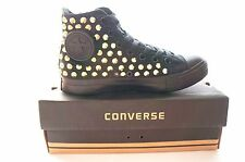 Studded Converse All star Chuck Taylor high top  all black with gold studs