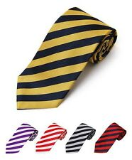 College Stripes POLY WOVEN TIE in 12 Colors (MPWC2401)