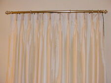 Faux Silk Pinch Pleated Drapes, French Pleated Curtains Custom Made With lining.