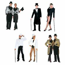 #TAILCOAT BLACK / WHITE / SILVER / GOLD CLOWNS & CIRCUS FANCY DRESS