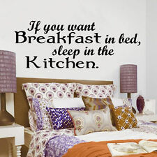 wall art sticker quote IF you want Breakfast kitchen