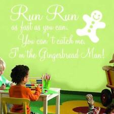 GINGERBREAD MAN sticker wall art sticker nursery Large decor
