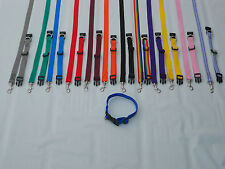 PUPPY LEADS & COLLARS. SMALL LEADS & COLLARS 12 COLOURS TO CHOOSE FROM*