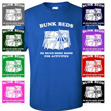 BUNK BEDS FUNNY STEP BROTHERS MOVIE QUOTE MENS T-SHIRT