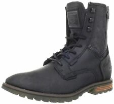 Caterpillar ANDREAS Mens Motorcycle Work  and Csaual Black Leather  Canvas Boot
