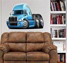Freightliner Cascadia Semi Truck WALL GRAPHIC FAT DECAL MAN CAVE MURAL 9544