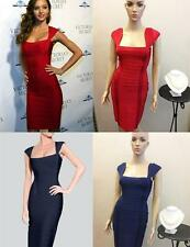 New Celebrity Red/Navy Blue/Black Evening Gown Party Bodycon Bandage Dresses