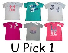 UNDER ARMOUR T-SHIRT CHARGED COTTON YOUTH GIRLS HEATGEAR PERFORMANCE LOOSE FIT