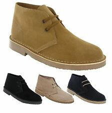 Mens New Suede Leather Desert Boots / Shoes 3 - 12