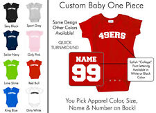 49ers Baby One Piece - Custom Name and Number, Creeper, Onesie