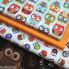 Owls •Fabrics for Patchwork, Craft, Quilting & Sewing •100% Cotton From the Bolt