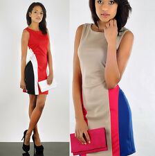 Women's Slimming Effect Elagant Classic Business Coctail Shift Pencil Dress A02