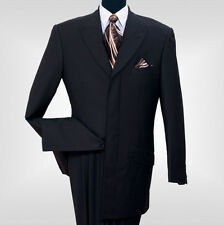 Men's wool feel fashion suit 4 hidden button, with triple pleated back 5605