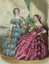Victorian Ladies 13~counted cross stitch pattern #524~Victorian Graph Chart