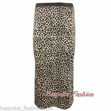 H6C Women's Leopard Print Elasticated Waist Ladies Pencil Skirt  Sizes S/M - XXL