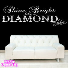 RIHANNA LYRICS DIAMOND WALL ART QUOTE STICKER -  BEDROOM LOUNGE LOVE DECAL