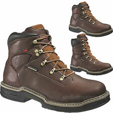 Wolverine Work Boots Mens Buccaneer MultiShox Steel-Toe Waterproof Brown Leather