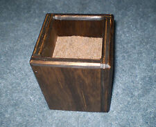 Furniture Risers, 4 Inch All Wood, Stained - Square Design - Storage, Bed, Desk