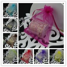 100 20x30cm Organza Bags Jewelry Gift Pouch Bag For Wedding favors,beads,jewelry