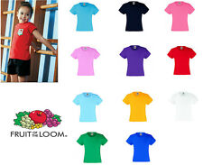 Fruit of the Loom Girl's Valueweight Tee All Sizes
