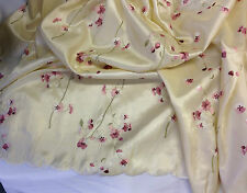 "52"" Happy Cherry Blossoms All Over Taffeta Fabric, 2 Yards"