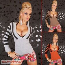 NEW WOMENS JUMPER SWEATER CASUAL KNITTED TOP SIZE 6-8-10 SEXY LADIES CLUB PARTY