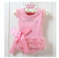 Baby Girls Princess Romper Dress Costume Clothes Tutu Outfit 6/9/12M Pink New