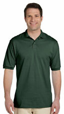 Jerzees Men's New Two Button Placket Knit Collar Stain Resistant Polo Shirt. 437